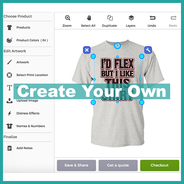 create your own customized t-shirts online